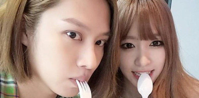 "Heechul dei Super Junior e Hani delle Exid MC di ""Weekly Idol"""