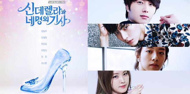 Poster ufficiale per 'Cinderella and Four Knight' con Jung Il Woo, Jungshin dei CNBLUE e Naeun delle Apink
