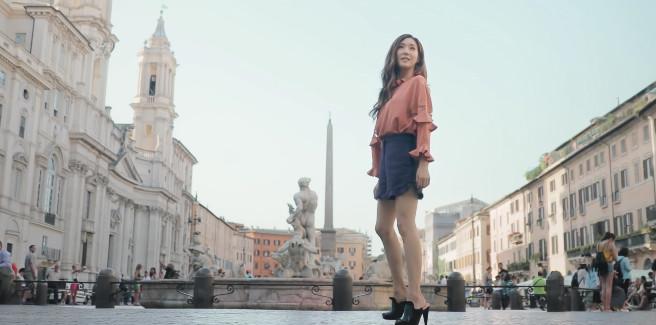 Tiffany delle SNSD incantevole a Roma nel video di Fendi