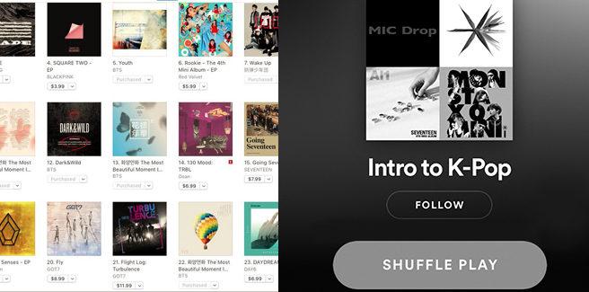 Quali sono gli artisti K-pop più famosi su iTunes e Spotify?