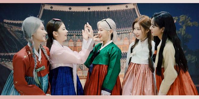 """Le ITZY nella versione hanbok di """"Not Shy"""""""