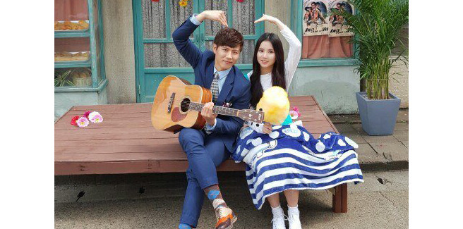 Eunha delle G-Friend nelle riprese per l'MV di Chin Hae Sung dei 2STAR