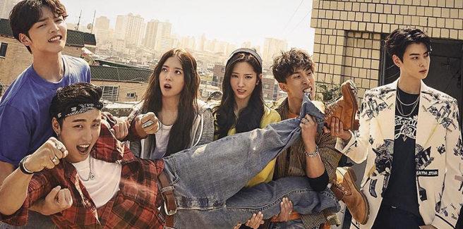Poster per 'The Best Shot' con Yoon Si Yoon, Kim Min Jae, Cha Eun Woo degli ASTRO e tanti altri